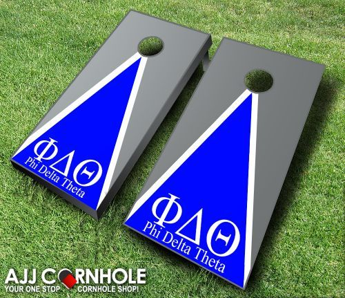 Phi Delta Theta Cornhole Set! Show your pride in your Greek organization with this customized cornhole set emblazoned with your fraternity's letters and colors! www.ajjcornhole.com