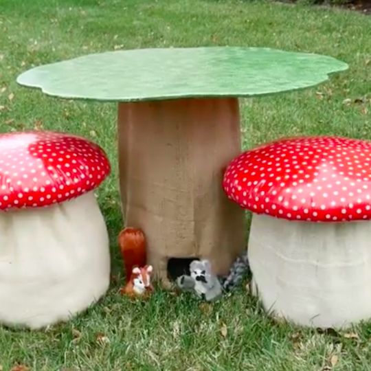Create a woodland wonderland for kids in your very own garden with this adorable tree table!