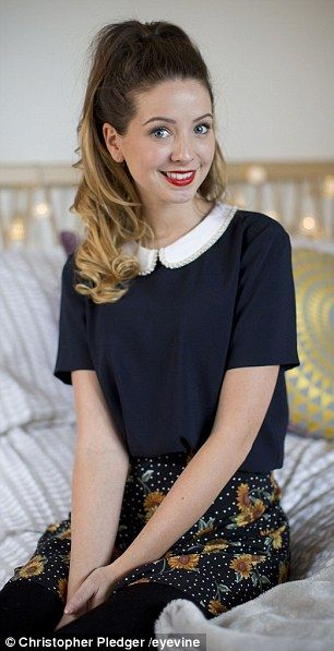Zoe 'Zoella' Sugg has more than six million subscribers on YouTube, where her video blogs - 'vlogs' - attract 12 million hits a month- celebrity