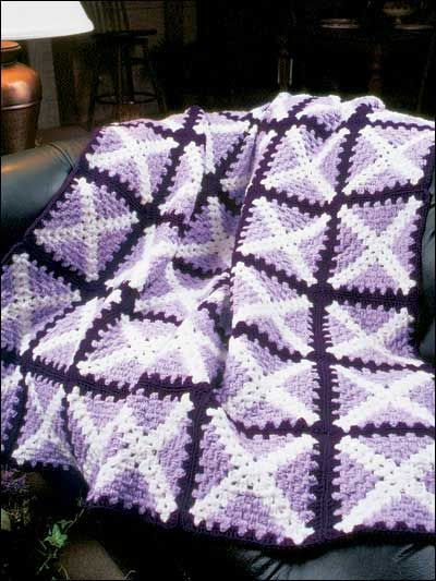 Crochet Afghans - Assorted Crochet Afghan Patterns - White Cross Quilt