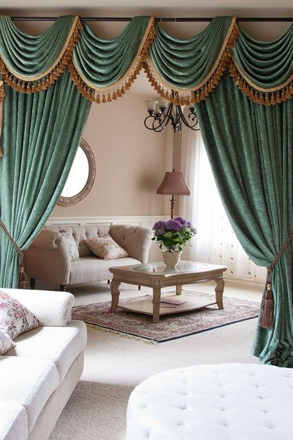 green chenille swag valance curtain sets doublesided chenille luxury green chenille flip pole swag valance is flexible in adjusting width to fit the