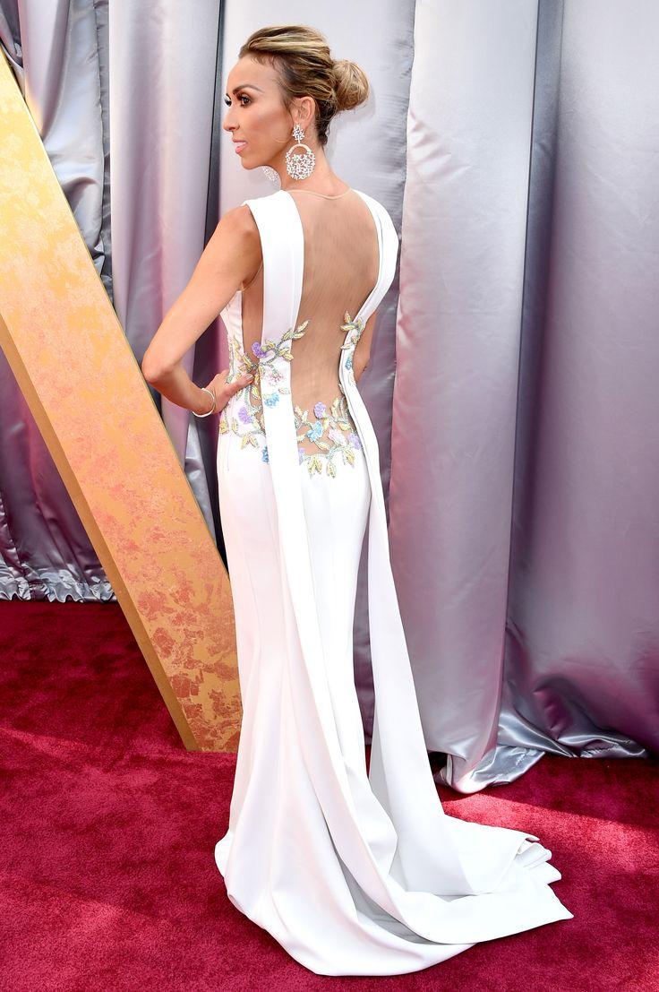Giuliana rancic 2014 oscars paolo sebastian dress - Oscars 2016 Giuliana Rancic Dress Back Lace Details