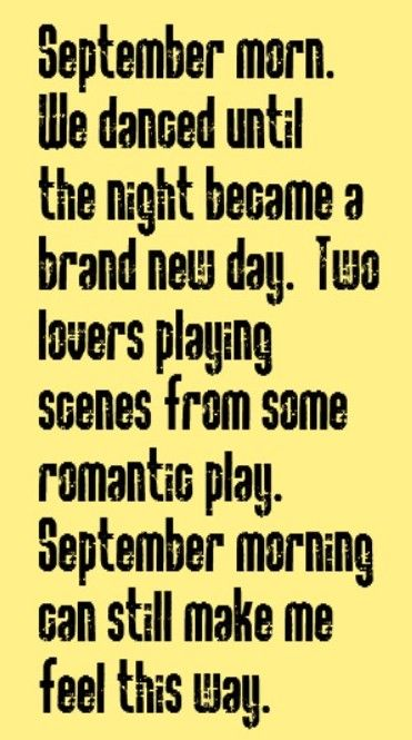 Neil Diamond - September Morn - song lyrics, music lyrics, song quotes, music quotes, songs