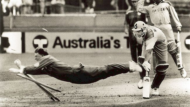 One of the most spectacular sight in a Cricket Match is to see a Fielder air borne, trying to catch the ball. Running Hard, A Full Length ...