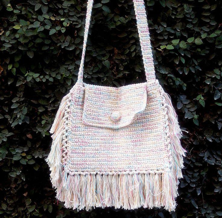 Mejores 25 imágenes de Bolsas de Crochê! en Pinterest | Bolsos ...