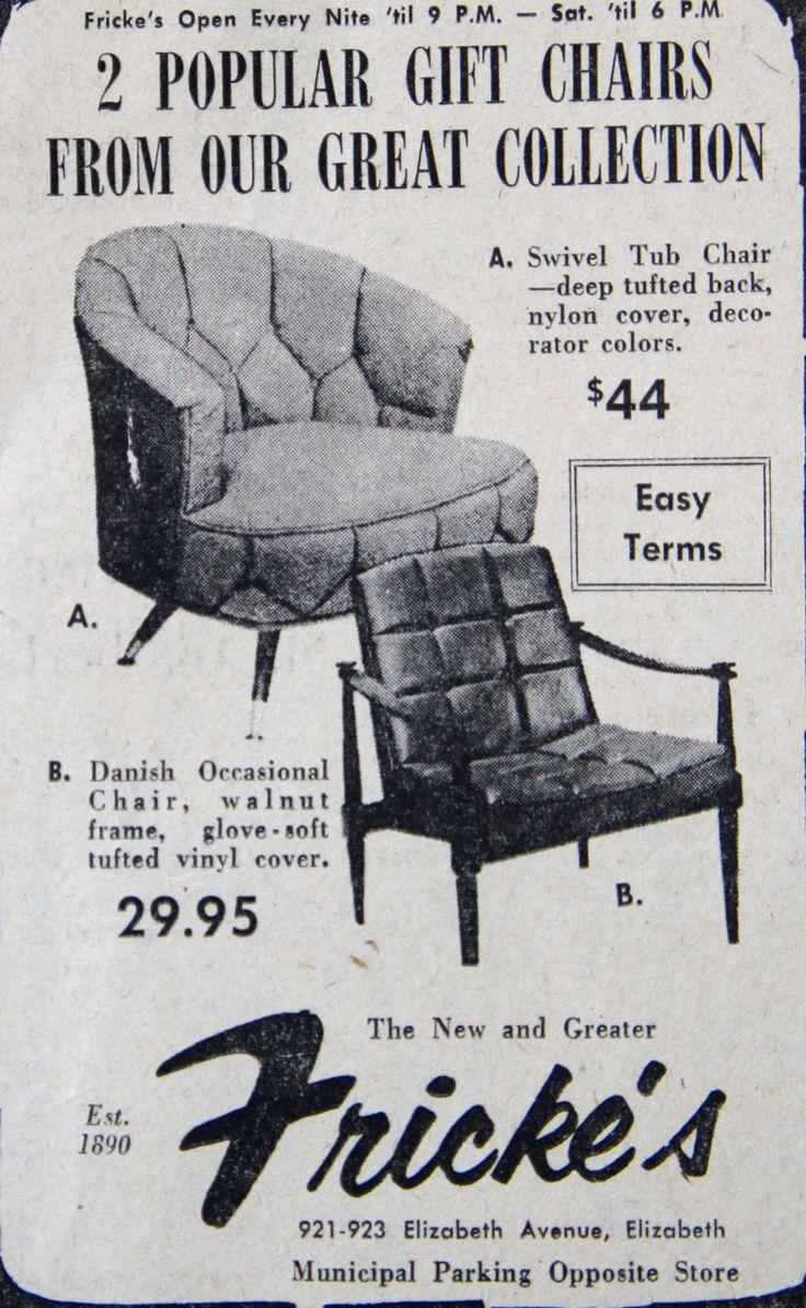 Frickeu0027s Furniture Store Ad 1960u0027s