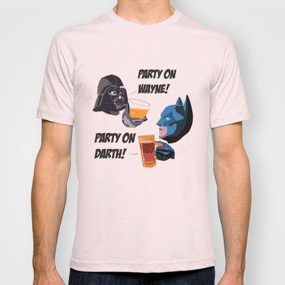 Party on! T-shirt by Sabrina Potocnik - $22.00 Batman! Darth Vader! Waynes World!