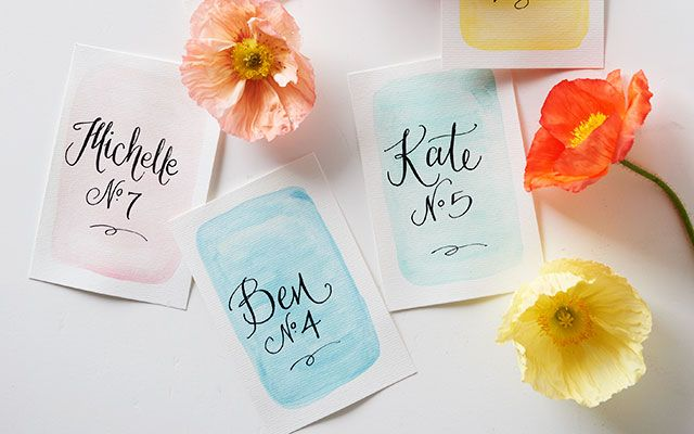 DIY Stationery: Watercolour Escort Cards