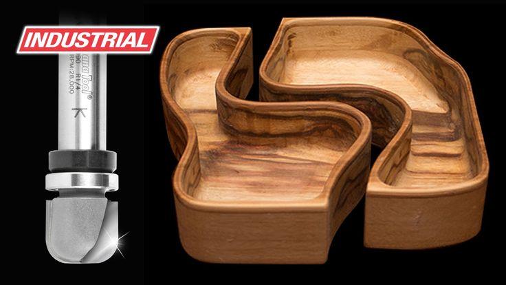 Double Interlocking Bowls Using Amana Tool Industrial Bowl & Tray Carbid...
