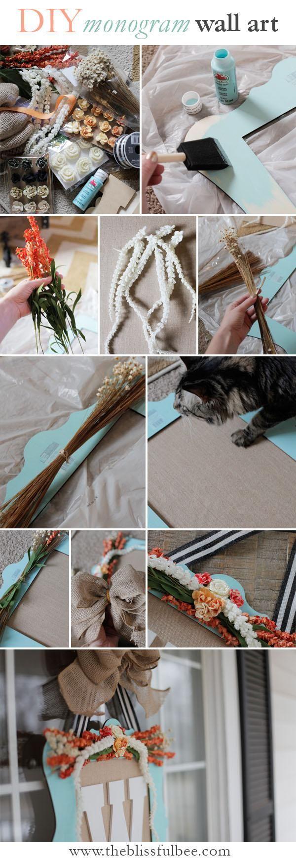 DIY Burlap Monogram + Hometalk Michael's Event