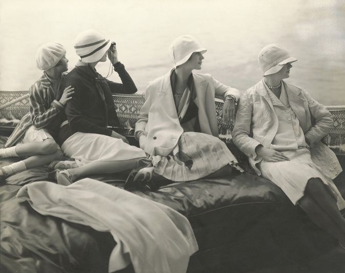 Edward Steichen, on George Baher's yacht, 1928