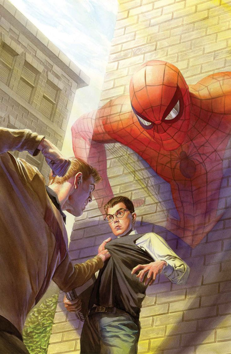 Peter Parker Vs. Flash Thompson by Alex Ross