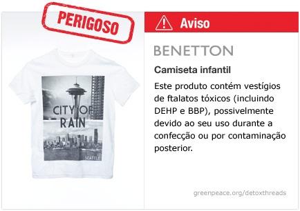 Benetton camiseta   #Detox #Moda NAO COMPRE FAZ MAL A SUA SAUDE