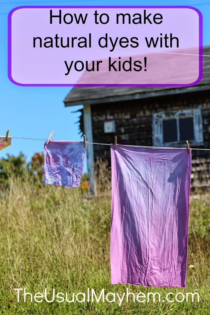 How to make fabric dye - How To Make Natural Dyes From The Usual Mayhem What To