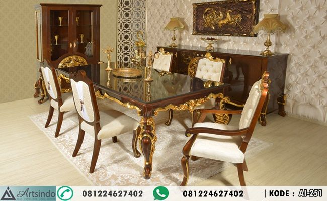 meja makan klasik modern, jual set kursi makan ukiran mewah, desain meja makan 6 kursi model terbaru, meja makan elegan terbaru