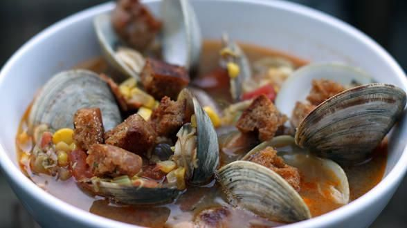 Spicy Clam and Corn Chowder | Recipes | Pinterest