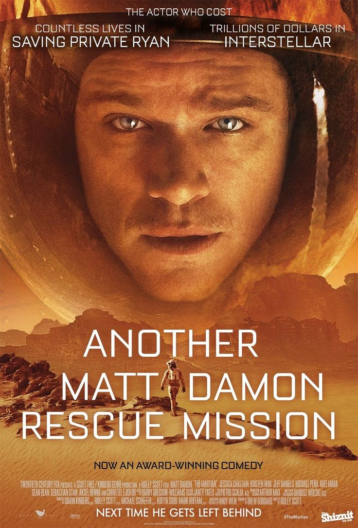 Honest Oscar-Nominated Movie Posters :: The Martian