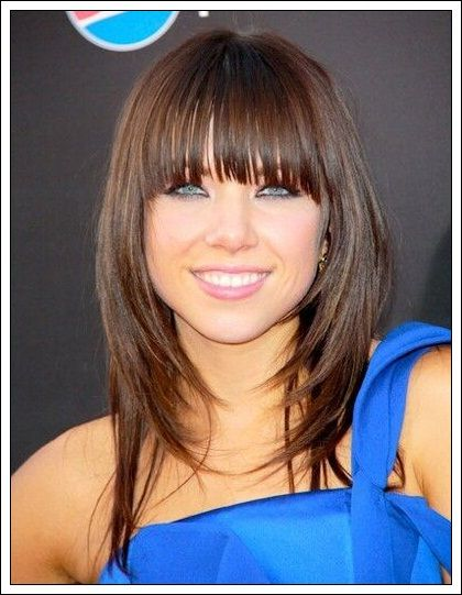 Best Long Bob Hairstyles With Bangs Images On Pinterest - Hairstyles long bob with bangs