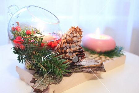 Winter table centerpiece