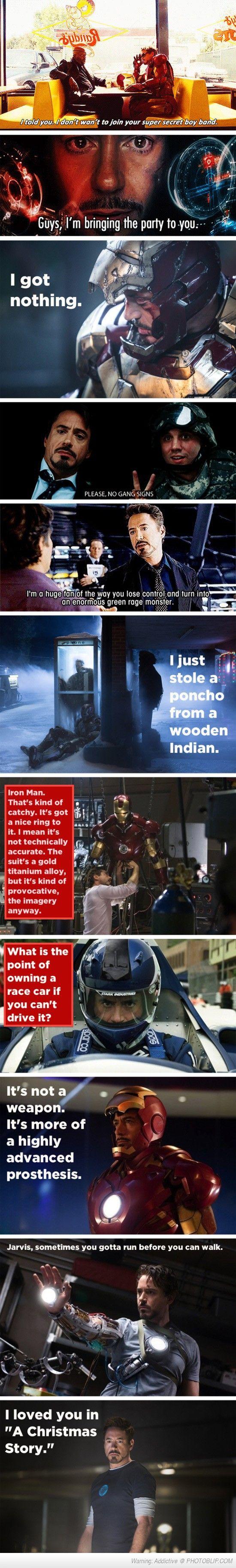 Tony Stark Witty Remarks.