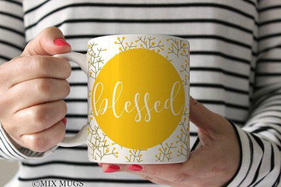 Béni de Christian Mug Mug Mug Inspirational Christian cadeaux inspiration cadeau Mugs avec citations foi Mug foi dons dons spirituels Q6011