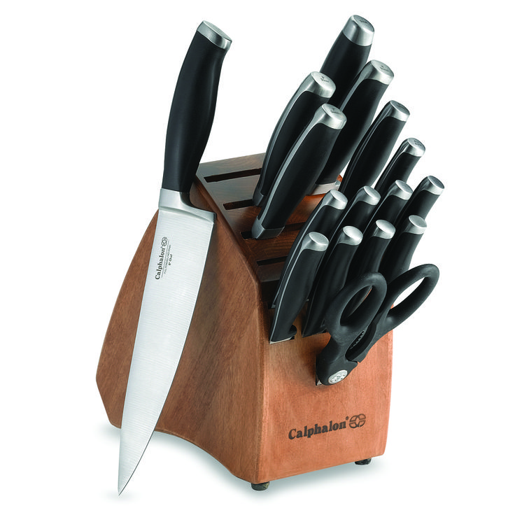 Every kitchen needs a good set of knives and this Calphalon Contemporary 17-Piece Knife Block Set delivers!