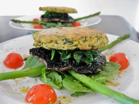 Gluten Free Vegetarian Spinach and Chickpea Burgers
