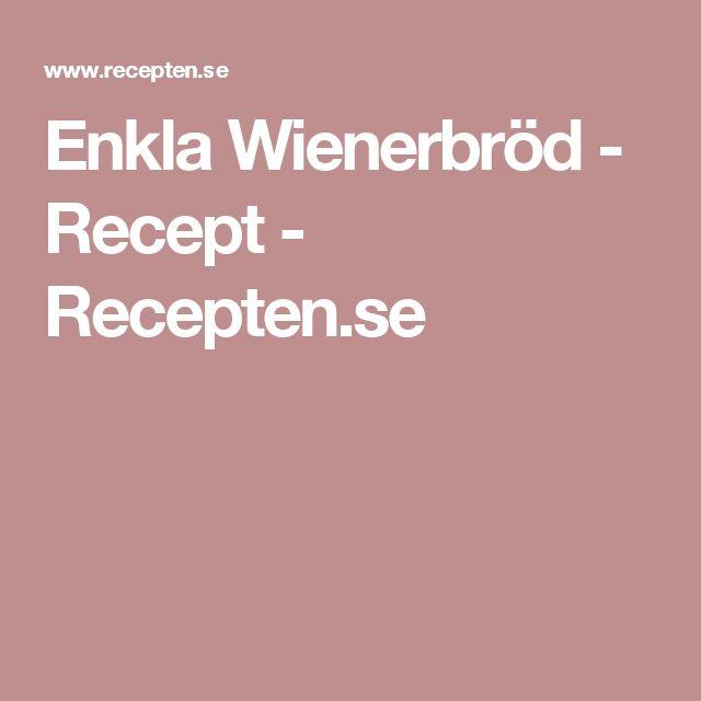Enkla Wienerbröd - Recept - Recepten.se