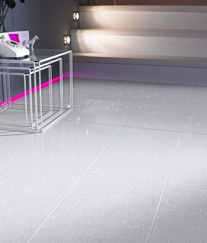 Starluxe White Tile 30cm X 60cm White Tiles Electric Underfloor Heating White
