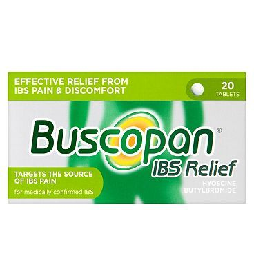 Buscopan IBS Relief - 20 tablets 10054322 12 Advantage card points. For the relief of painful abdominal spasms in medically confirmed IBS. See details below, always read the labelSuitable for: Adults and children aged 12 years and over.Active http://www.MightGet.com/february-2017-1/buscopan-ibs-relief--20-tablets-10054322.asp