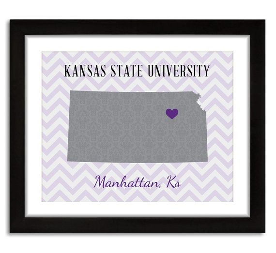 Kansas State University Wildcats Manhattan KS by LoubeeDesigns, $15.00