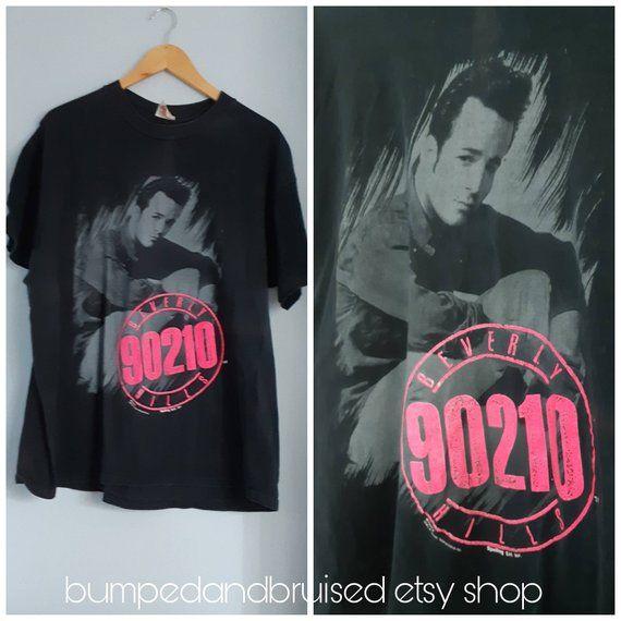 38e91c2f 90210 Luke Perry Dylan T shirt , XL, 1990s tv drama , teen drama , beverly  hills california , teen heartthrob