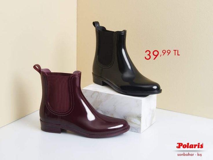 Yağmurlu havaların vazgeçilmez parçası olan Polaris kısa botlar, parlaklığı ile göz kamaştırıyor! #AW1617 #newseason #autumn #winter #sonbahar #kış #yenisezon #fashion #fashionable #style #stylish #polaris #polarisayakkabi #shoe #ayakkabı #shop #shopping #womenfashion #trend #moda #ayakkabıaşkı #shoeoftheday #yağmur #rain