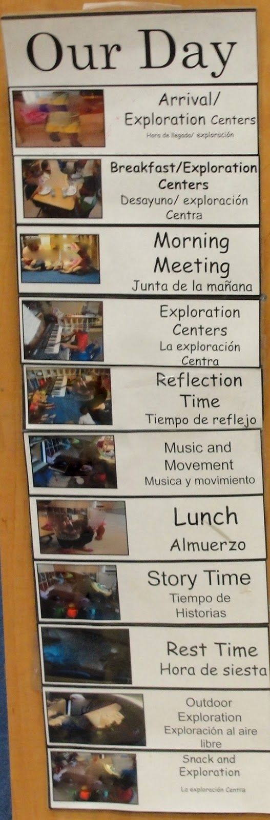 We try to use things in our classroom that are more homelike and durable, Just like the frames we use we had a resource for old bi-fold clos...