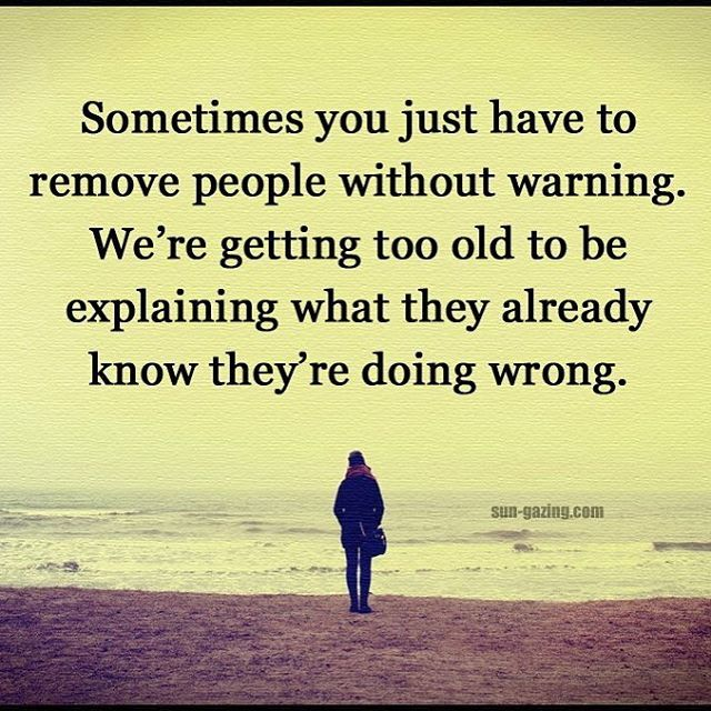 Sometimes you just have to remove people without warning. We're getting too old to be explaining what they already know they're doing wrong.