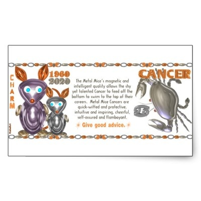 ValxArt Zodiac metal rat Cancer born 1960 2020 Stickers   by valxart.com for $5.20 What astrology sign+year are you? Your chinese zodiac year + astrology month molds your character. To learn more  see http://pinterest.com/pin/190347521720759035/  Valxart has Zodiac designs with & without horoscope forecast  include cusp, chinese zodiac years and years + sign. Check pinterest.com/valxart and if you do not see product, year or sign desired, contact Valxart  info@valx.us for links.