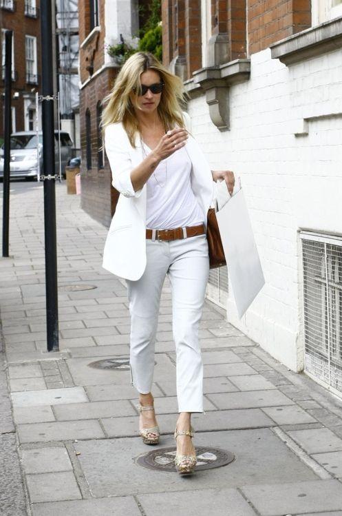 white on white. Kate Moss