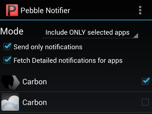 Pebble watch app to put all your phone apps to your watch