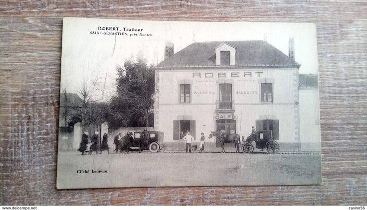 Cpa 44 Saint Sébastien Sur Loire Café Restaurant Traiteur Nantes - Nantes