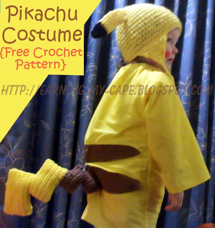 Earning-My-Cape: Crochet Pikachu Hat (and tail)