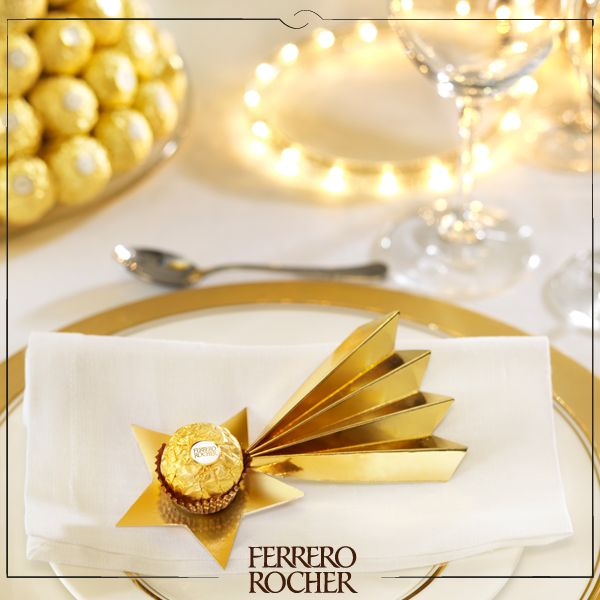 Ferrero Rocher Christmas Table Setting - Ferrero Rocher