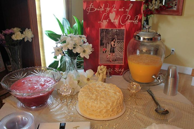 My table from bridal shower!