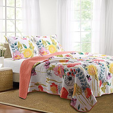 jcp | Greenland Home Fashions Watercolor Dream Floral Quilt Set
