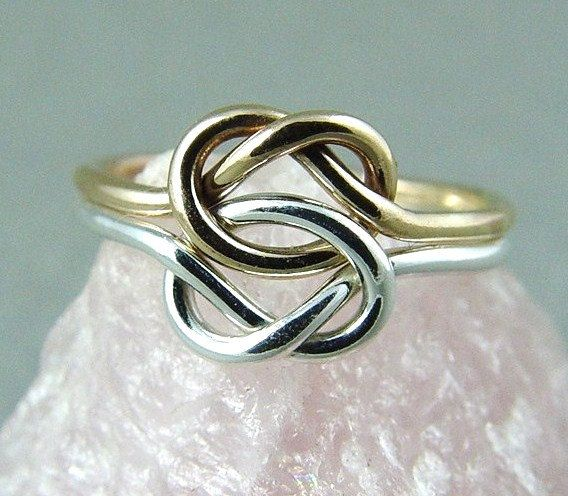 Double Love Knot Ring / Infinity Knot Ring / Mother Daughter Ring / Promise Ring / Best Friends Ring / Sisters Ring. $36.00, via Etsy.