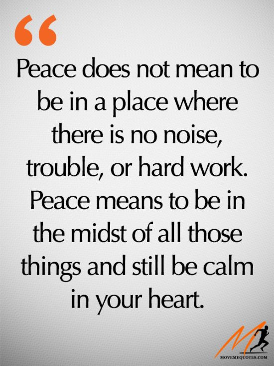 What peace really is...