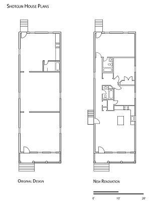 Sgun House Floor Plans   32 Best Shot Gun Images On Pinterest Shotgun House Small Houses