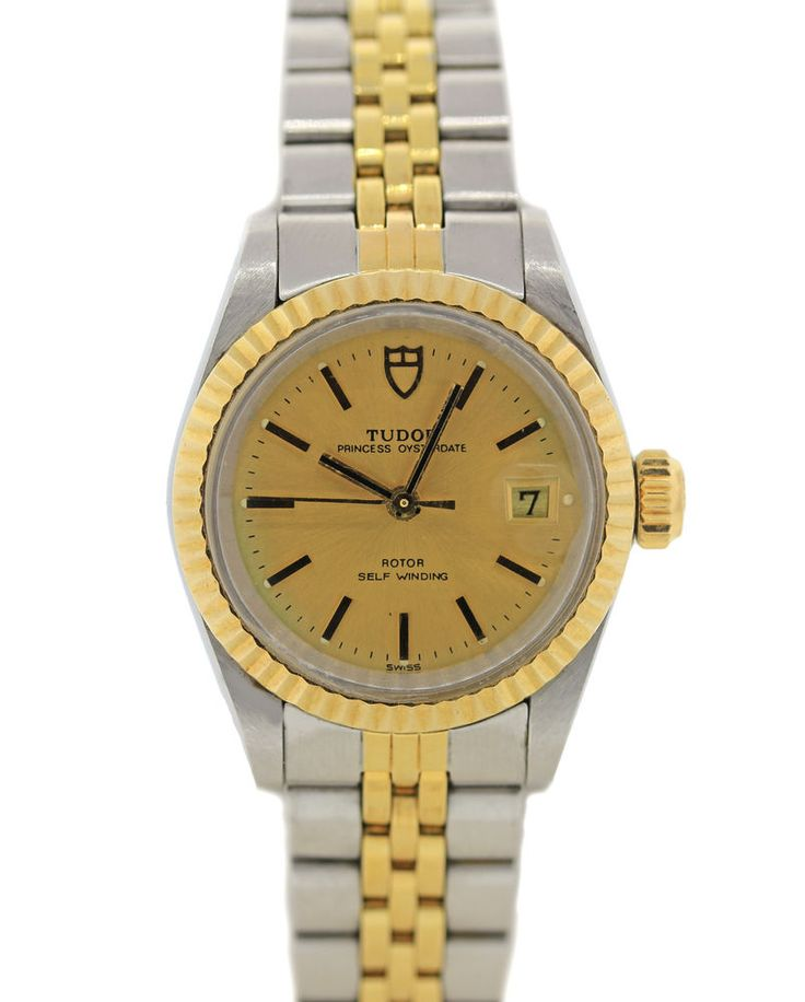 tudor princess date two tone gold stainless ref