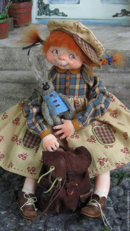"""Купить """"Фулиганка Тува"""" - рыжий, коллекционная кукла, авторская кукла, куклы…"""