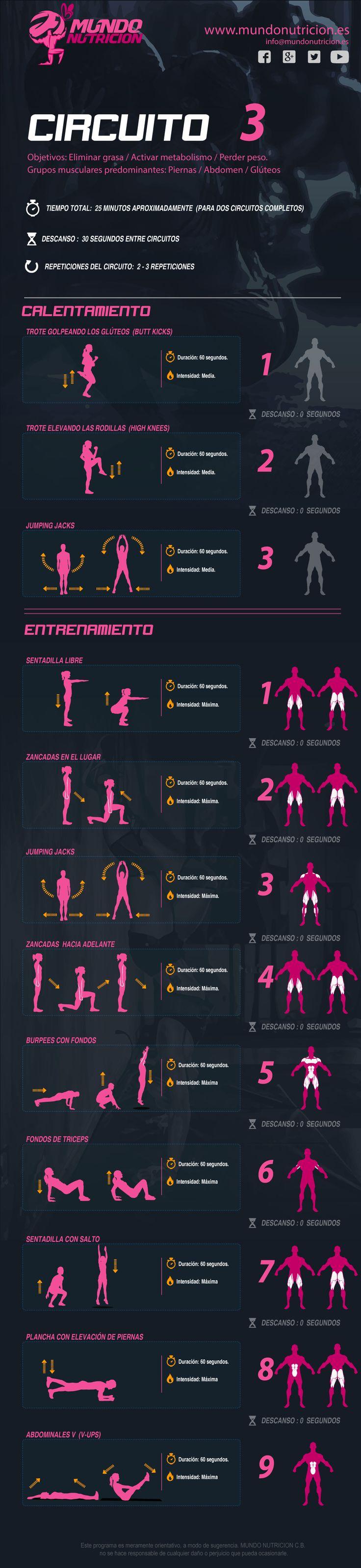Circuito Quema Grasa Gimnasio : Más de ideas increíbles sobre ejercicios para quemar