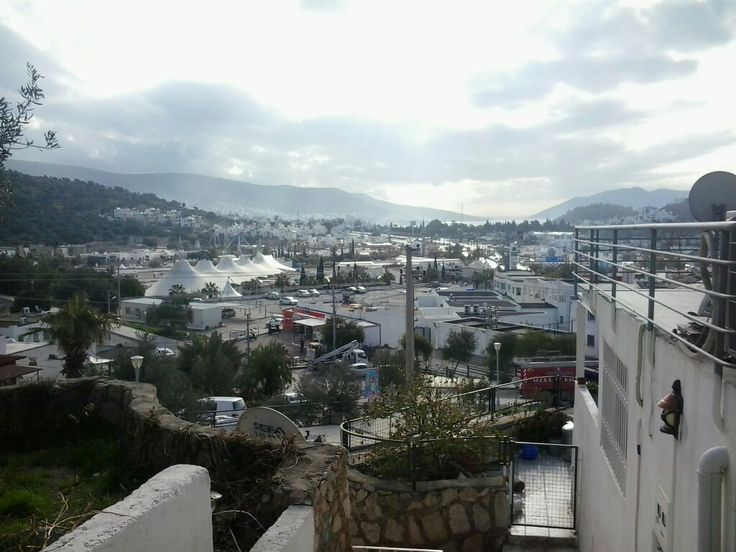 Bodrum town in winter near Oasis shopping mall